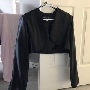 Jackets & Blazers - Black Satin Shrug
